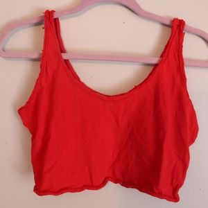 Red Cropped Tank Top from Primark